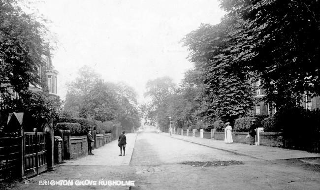 Brighton Grove, 1912 looking east.