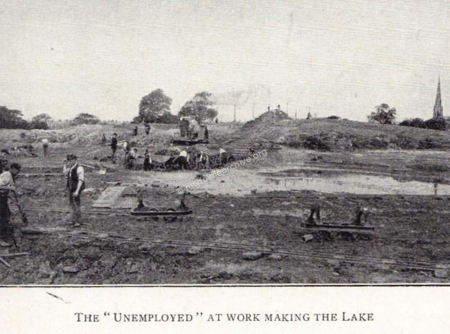 Lake under construction