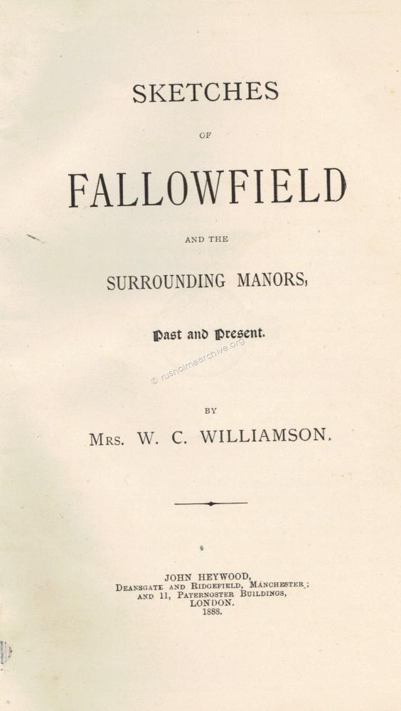 'Fallowfield' 1888, by Mrs C Williams