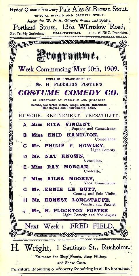 H. Flockton Foster Costume Comedy Co
