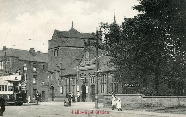 Fallowfield Station, pre 1914