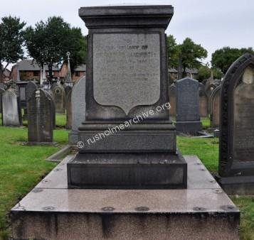 Grave of Edward Langworthy at Sale Cemetry.