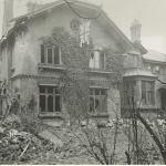 Barcomb Cottage after 2nd WW bomb damage