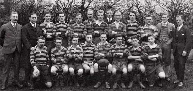 1920's Rusholme Rugby team?