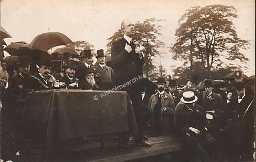William Royle speaking,Platt Fields 1910