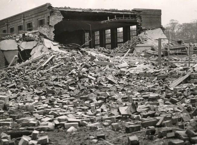 bomb damage to school