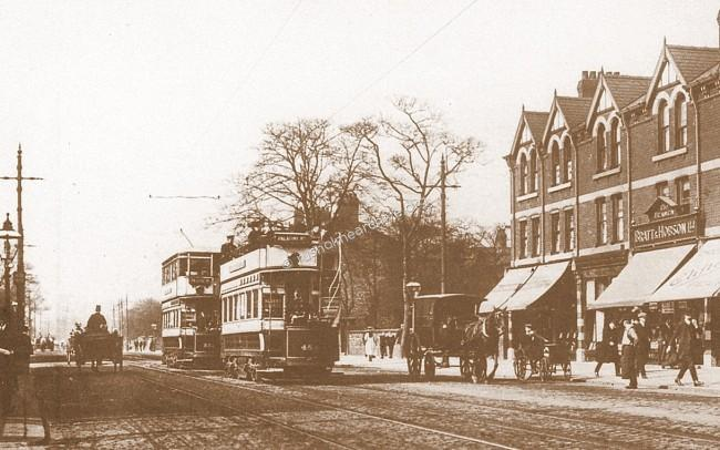 Wilmslow Rd, looking north east