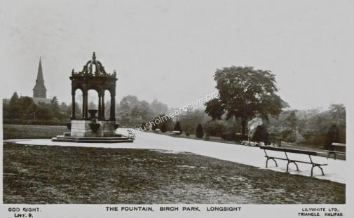 The Fountain, Birch Park looking West 1933