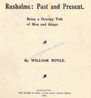 History of Rusholme, William Royle 1905