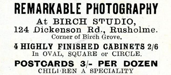Birch Studio advert