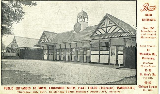 Royal Lancashire Showground entrance 1906