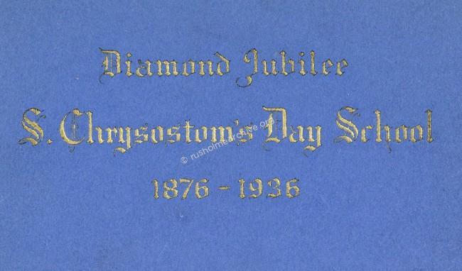St Chrysostoms Diamond Jubilee Booklet