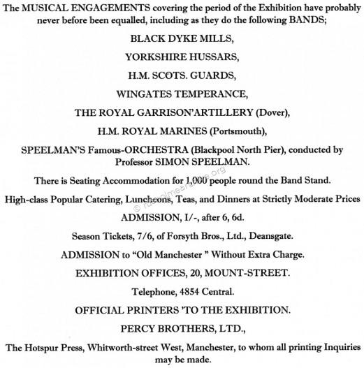The opening advertisements for the Exhibition