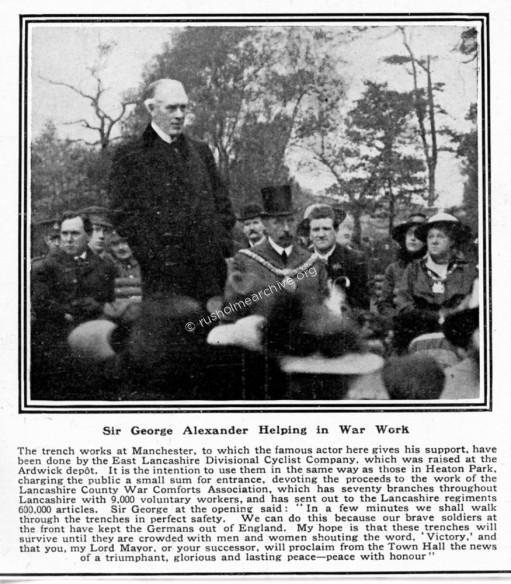 Sir George Alexander opening of Trenches