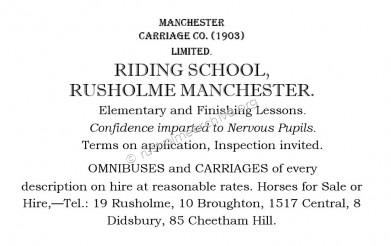Riding School  Ad