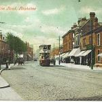 Wilmslow Rd looking north, Thurloe St on right