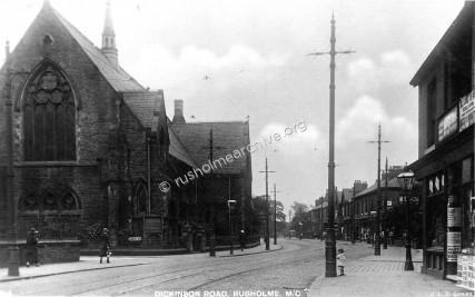 Wesleyan chapel,Dickenson Rd looking east.