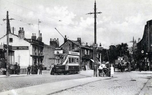 Fallowfield 1910,  north towards Fallowfield Brow