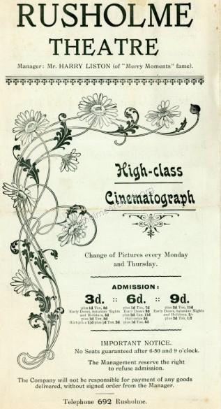 Programme dated April 1917