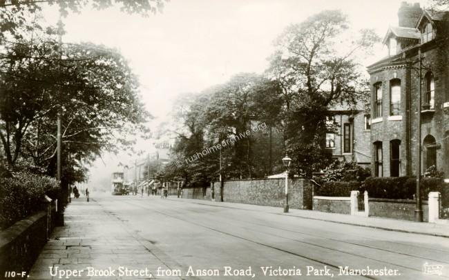 Northerly end of Anson Road/ Upper Brook Street.