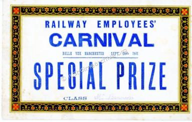Belle Vue Prize Ticket 1931