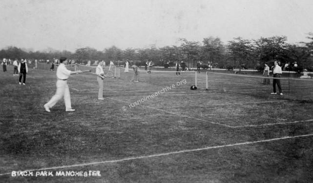 Tennis players, Birch Park 1909