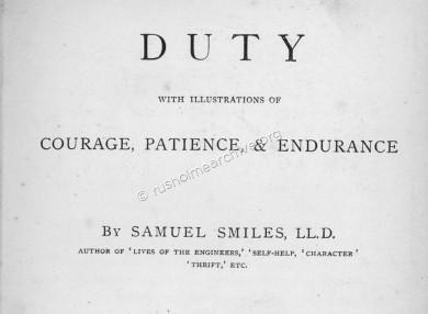 'Duty' by Samuel Smiles
