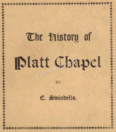 Cover of Platt Chapel History