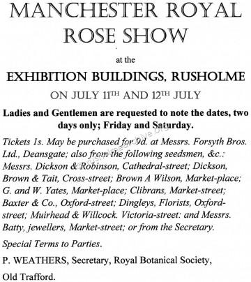 1913 Rose Exhibition poster