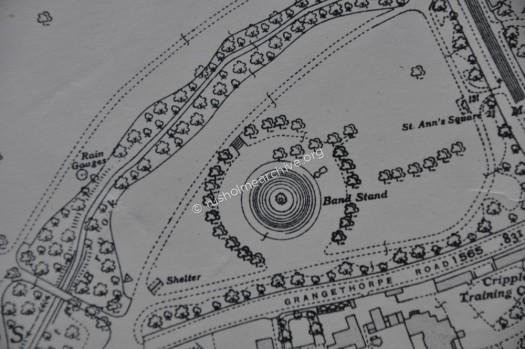 Bandstand, Platt Fields map