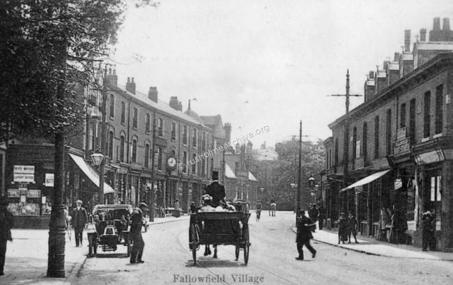 Fallowfield 1904, looking south