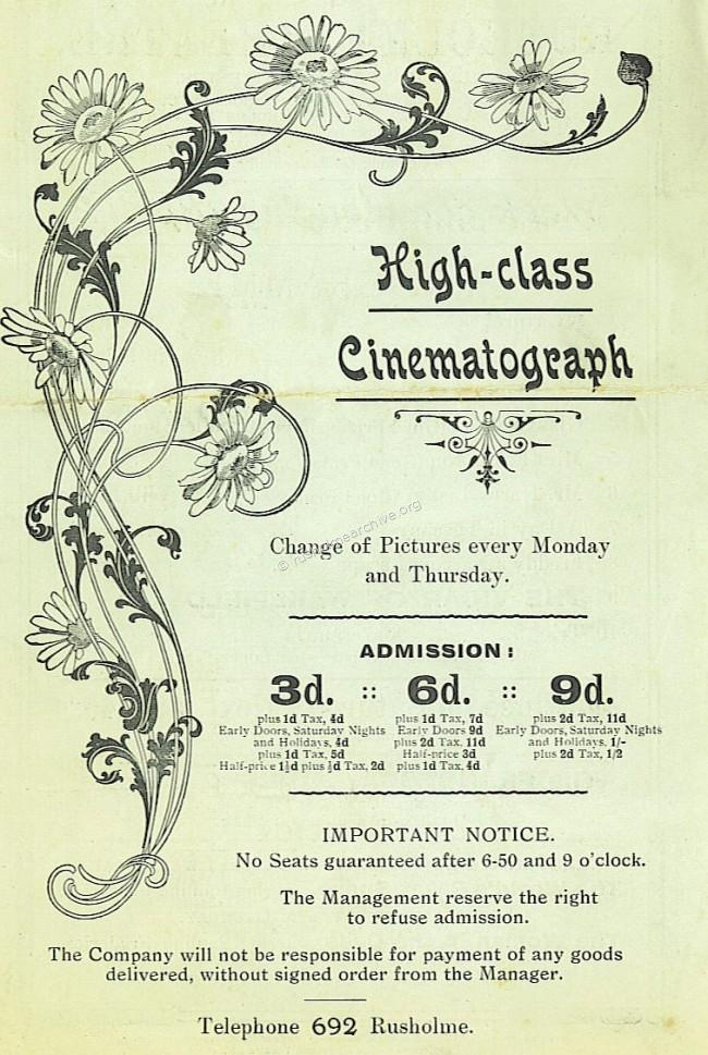 Cinema price list