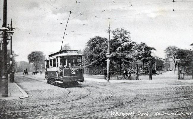 Single decker tram to Brookes Bar