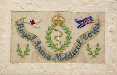 RAMC embroidered Greetings card