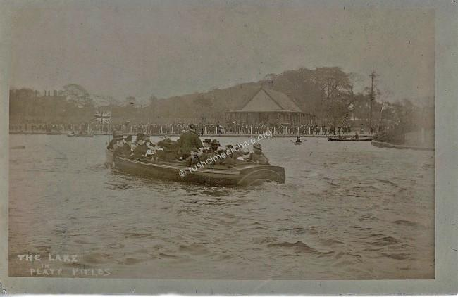 Platt Fields boating lake May 1910