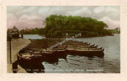 Rowing skiffs in colour, undated