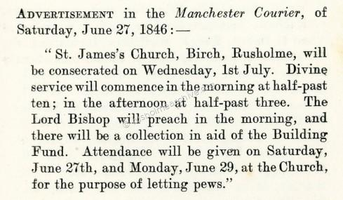 St James Consecration notice
