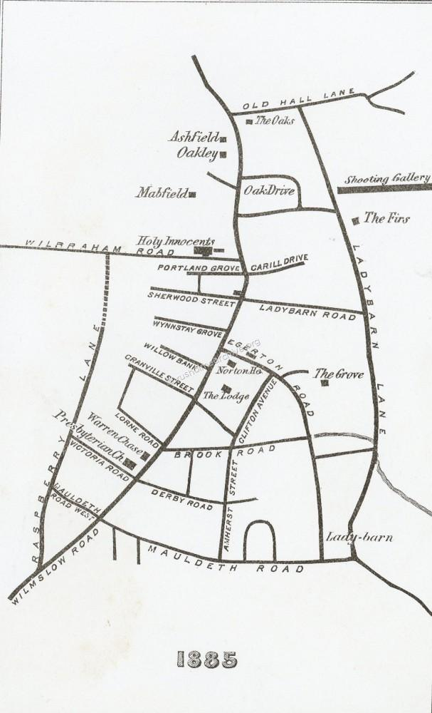 1885 Fallowfield map