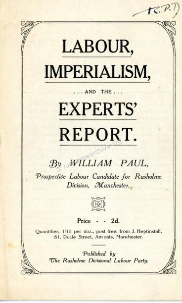 William Paul leaflet