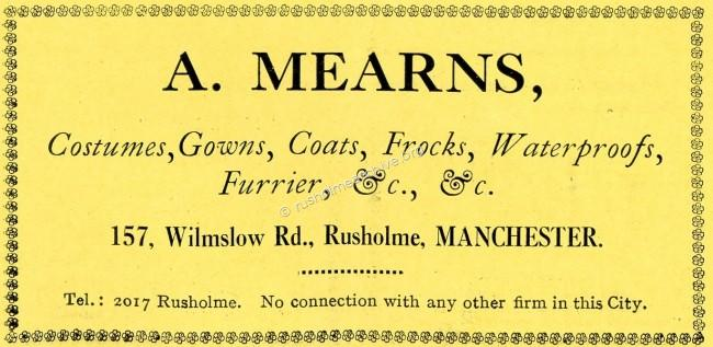 Rusholme Theatre advertisment