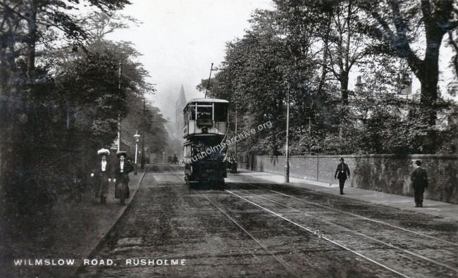 Wilmslow Rd looking north before 1910