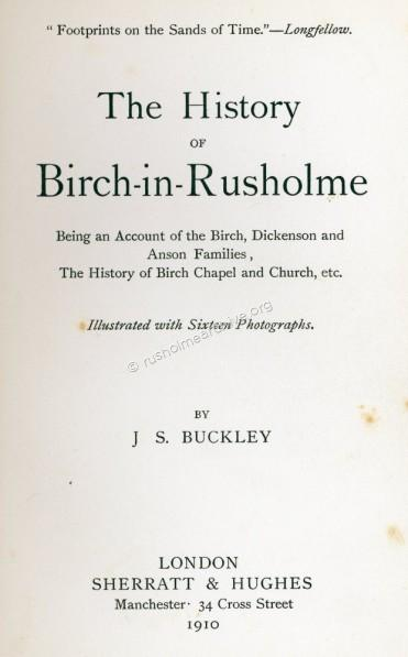 Birch-in-Rusholme history