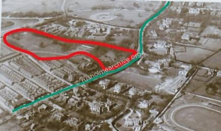 Aerial view of Ashfields Trench location.