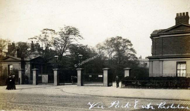 Wilmslow Road entrance to Victoria Park