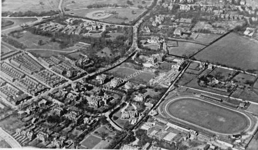 Aerial View, Fallowfield Stadium 1930's
