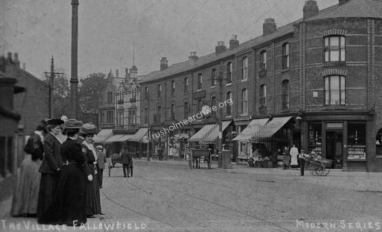 Wilmslow Road, looking north from Sherwood Hotel