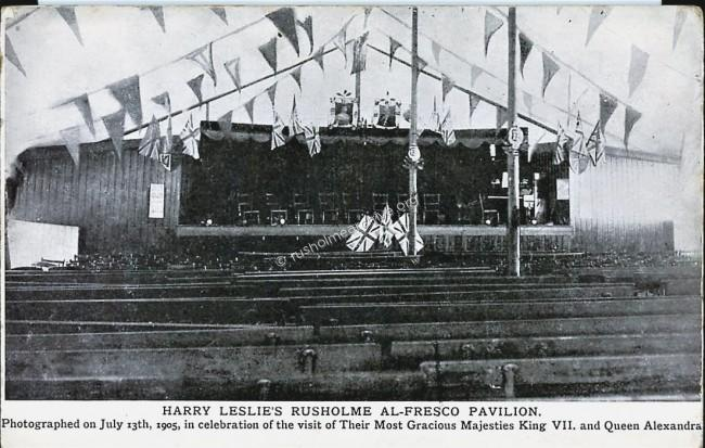 Rusholme Pavilion interior view July 1905