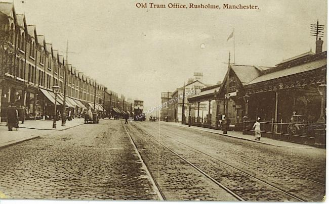 Rusholme Theatre circa 1918 looking south