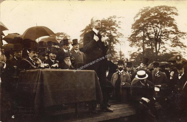 William Royleat the Opening of Platt Fields1910