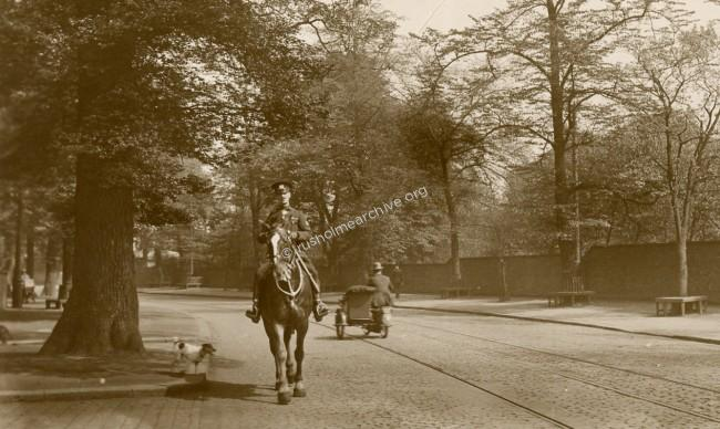 Undated - soldier on horseback.